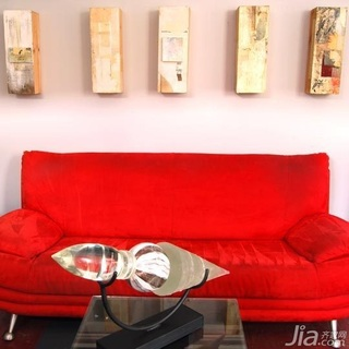红色浪漫 温馨混搭风格一居室