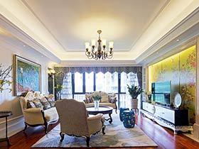 奢华唯美中欧混搭风 140平很有品味的公寓设计