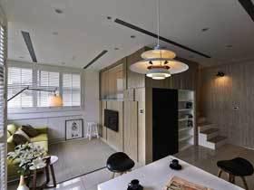 原木宜家风混搭风 跃层公寓设计好巧妙