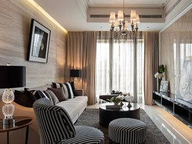 浅咖色现代欧式二居装修 环保设计家人放心