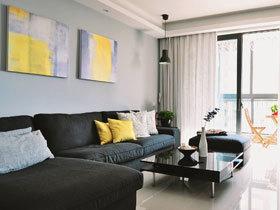 时尚黑白简约公寓装修 通透大气的设计
