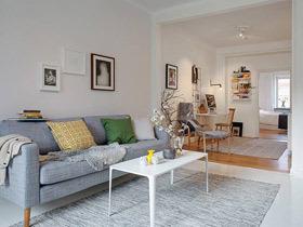 素色简约北欧风 60平两居室盛放全家的幸福