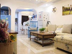 乡村美式地中海风情三居室 每天都能体验大海的清新