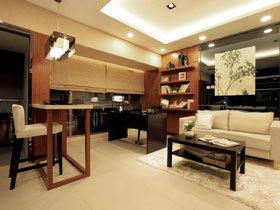 现代日式混搭风 90平时尚两居室装修