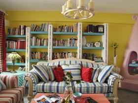 清新多彩地中海风情公寓 条纹控最爱