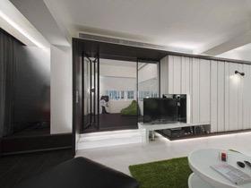 时尚黑白简约风公寓装修 帅哥最喜欢这样的设计