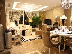 88平奢华咖色系欧式两居室 富贵与好运并存