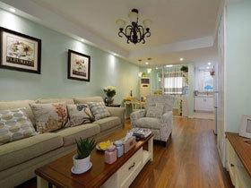 小清新美式田园两居室 温润如玉的空间设计
