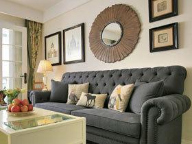 休闲美式新古典三居装修 超美的家可以当样板房了