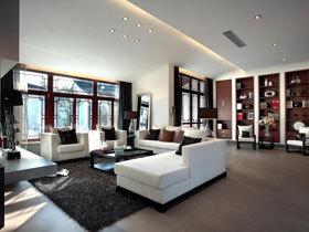 黑白灰色调打造素净中式别墅 美家就要有格调
