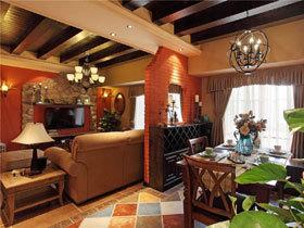 文艺复古乡村美式公寓 深色调也会很有魅力