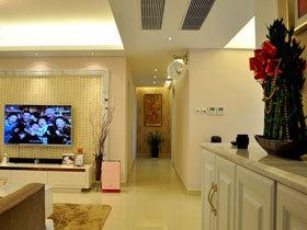 89平时尚现代简欧风三居设计 很温馨的三口之家
