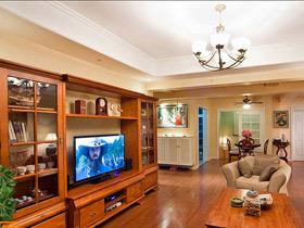 休闲复古美式两居室 收纳设计很棒