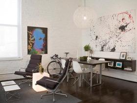 咖色系美式混搭风公寓 男生们喜欢的家