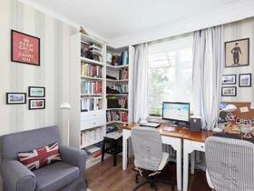清新简洁地中海风情两居室 整体设计很紧凑