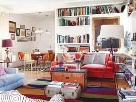 怀旧色彩混搭风公寓 适合欢乐聚会的家