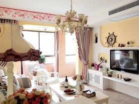 美式地中海风三居装修 最美好的家的样子