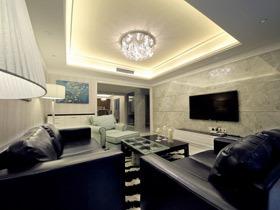 时尚奢华现代简约三居室装修 这样的家最美好