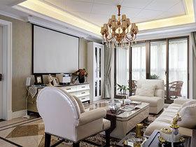 浪漫优雅美式四居装修 一看就是精品