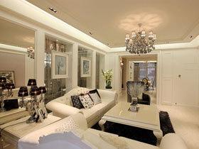 优雅欧式新古典三居装修 洁净的家十分靓丽