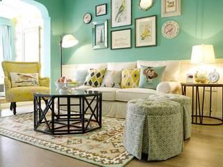 甜美铬绿色美式田园三居室 就喜欢这样清新的家