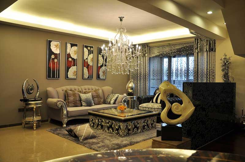 时尚现代简欧风两居室装修 甜蜜婚房幸福起航