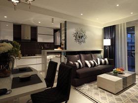 中性色现代简欧三居装修 超酷的黑白灰