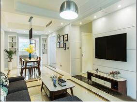 现代简约风格公寓装修 两套房打通的空间