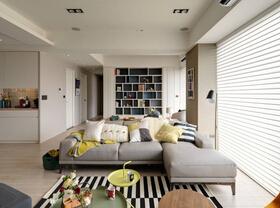 北欧风格装修效果图三居室装修 随意中的简洁
