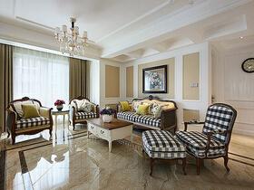 20万装现代简欧风格三居室样板间 好美的家