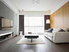 100㎡现代二居室设计图   南北通透户型好亮堂