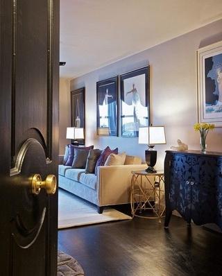 深色系复古欧式 三室两厅样板房欣赏