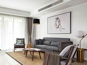 150平新中式装修效果图三房两厅装修 温情能量