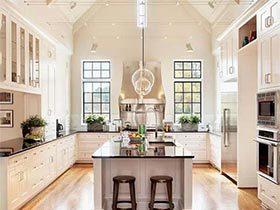 越做越美丽  10款美式开放式厨房装修效果图