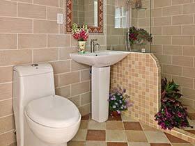简单与清新  11个田园风格整体卫生间装修效果图