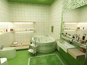 淡雅的天堂  10款绿色系卫生间装修效果图
