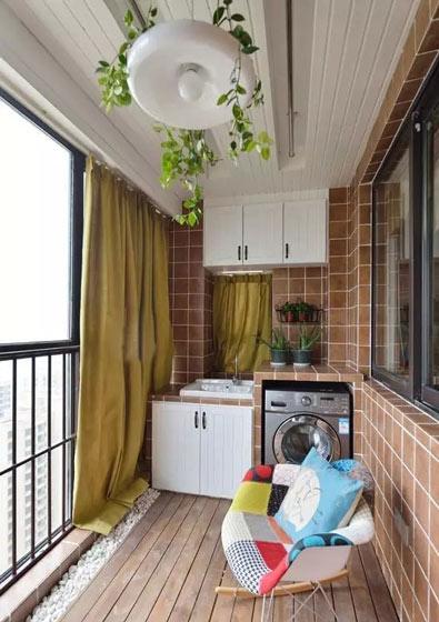 阳台大变身 11款阳台装修改造洗衣房设计