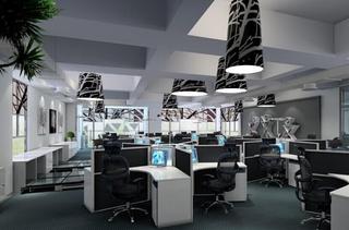 现代写字楼办公区设计效果图