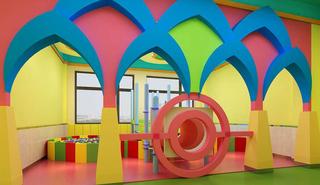 彩色幼儿园环境布置图片大全