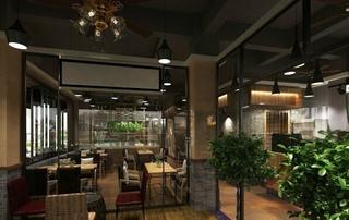 现代休闲咖啡厅设计效果图片