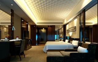 宾馆标准间设计装修效果图片