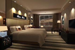 宾馆房间卧室装饰效果图片