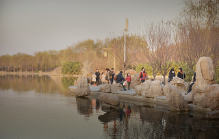 公园湖边设计效果图案例