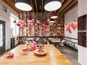 粉红色波兰咖啡厅效果图