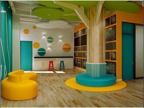 好玩有趣的幼儿园装修  背景墙值得借鉴