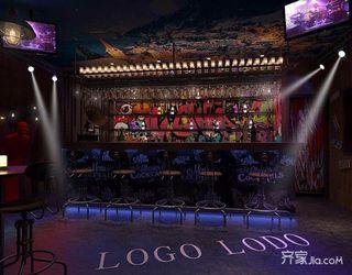 160平复古工业风酒吧装修效果图