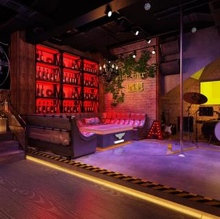 loft工业风酒吧装修效果图