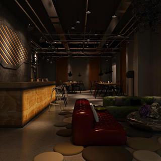 复古工业风酒吧装修效果图