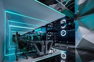 电竞网吧网咖设计 未来科技感