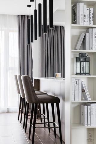 现代简约风格三居室装修吧台设计图